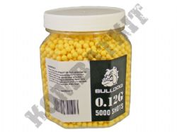 5000 x 6mm x 12g Yellow Polished Airsoft BB Gun Pellets in Tub Bulldog